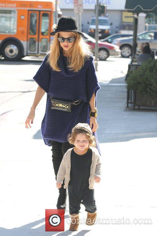 Rachel Zoe and son Skyler Berman are seen...