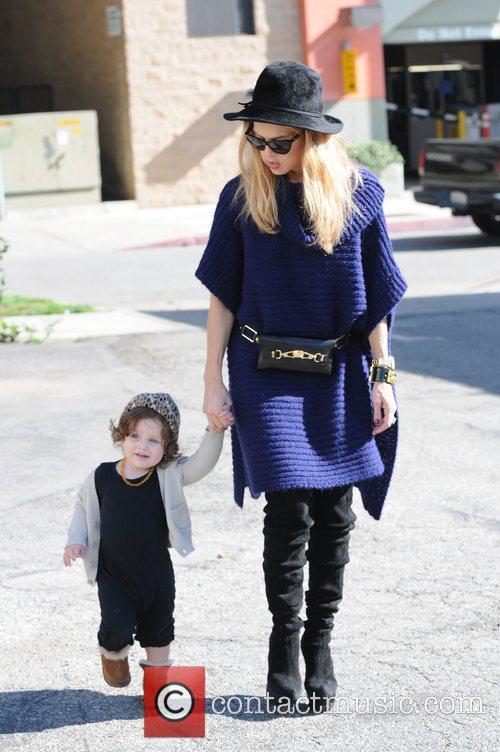 Rachel Zoe and son Skyler Berman are seen...
