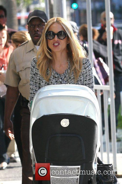 Rachel Zoe out having lunch with the family...