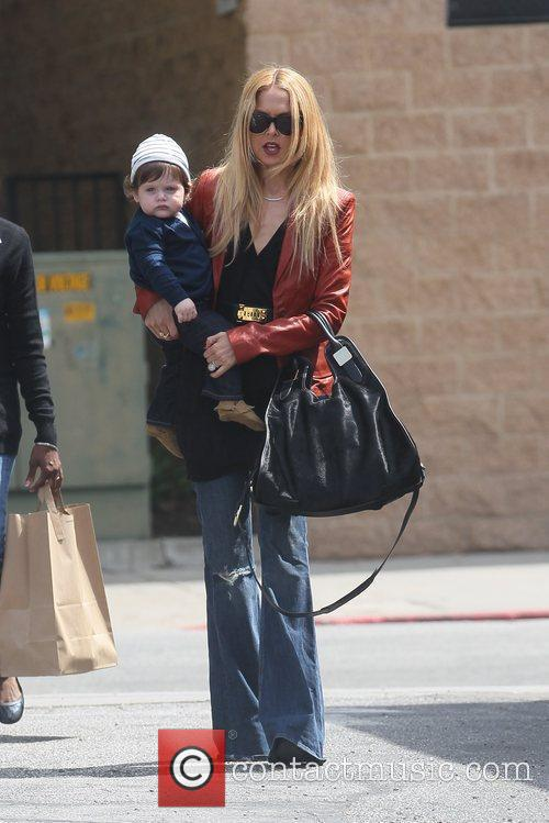 Going to lunch with her son Skyler Berman