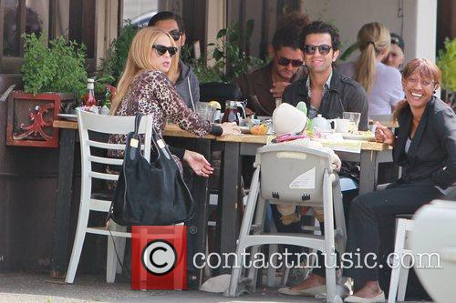 Rachel Zoe and her son Skyler Berman having...