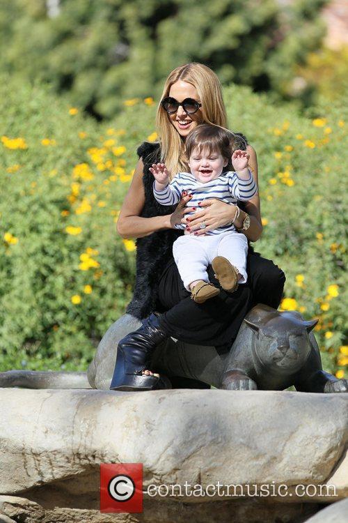Rachel Zoe and her son Skyler spend some...