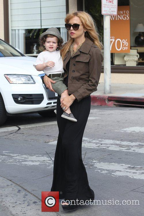Rachel Zoe seen with her son Skyler Berman...