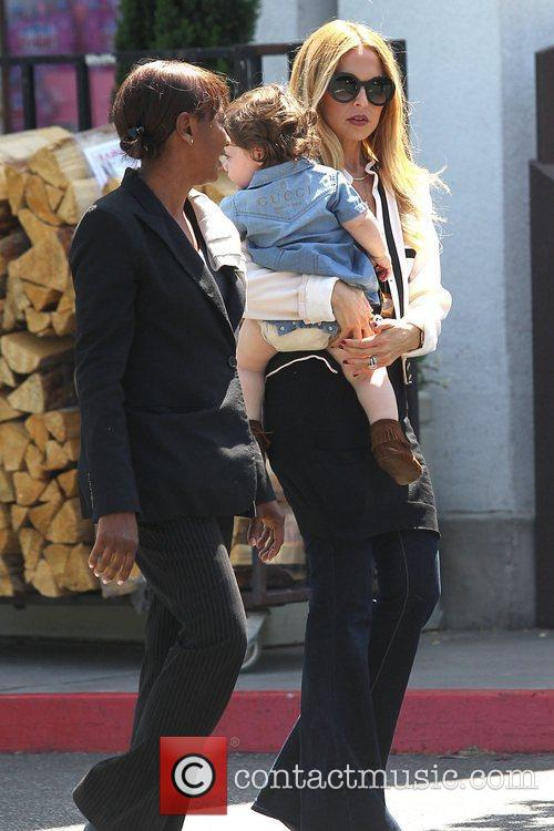 Rachel Zoe out and about with her son...
