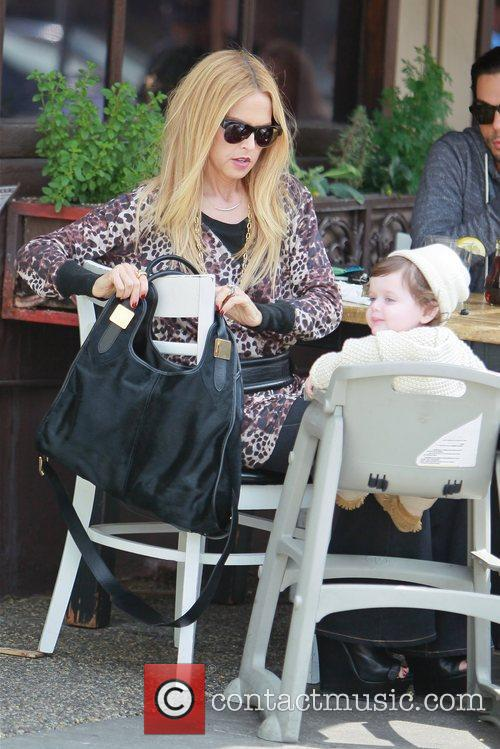 Rachel Zoe, at lunch with her son Skyler...