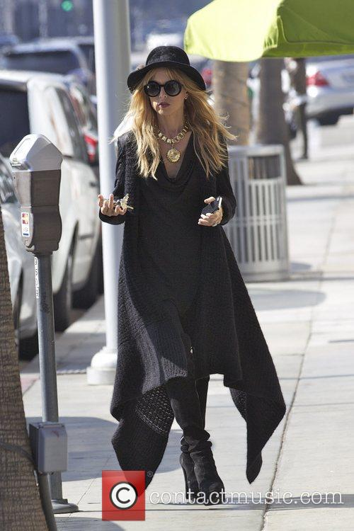 Rachel Zoe dressed up for halloween whilst out...