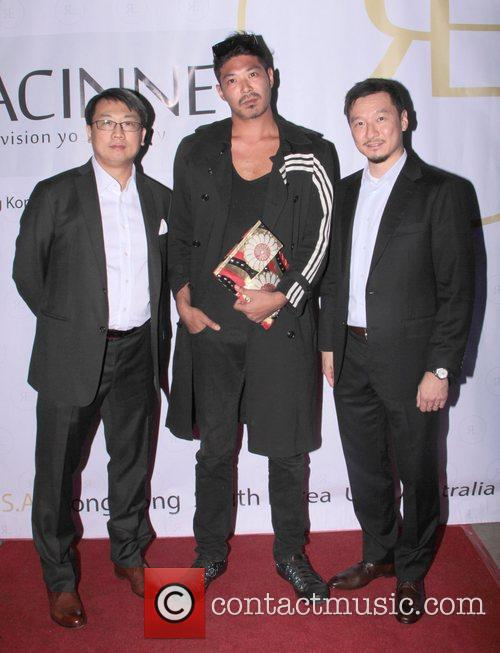 Racinne CEO Edwin Tseng - far right attends...