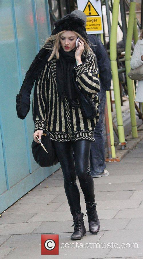 Fearne Cotton at the BBC Radio 1 studios...