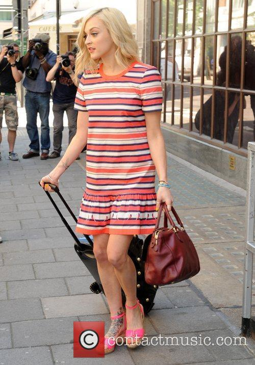Fearne Cotton leaves the BBC Radio 1 studios...