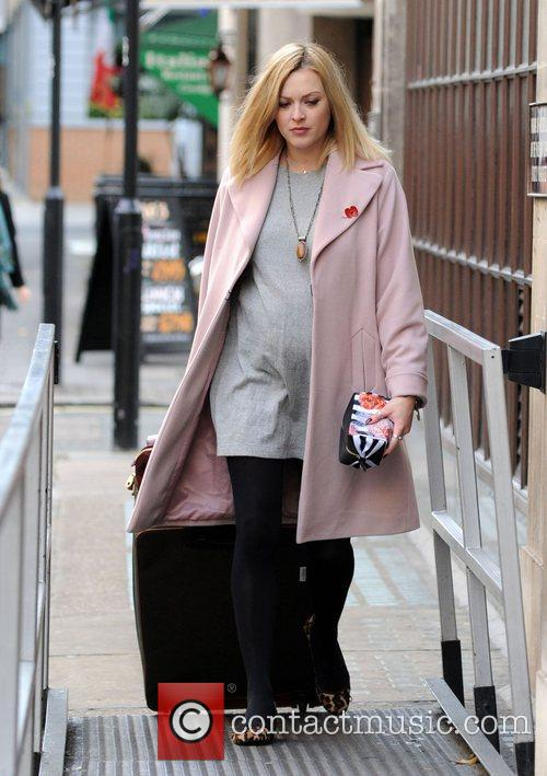 Pregnant Fearne Cotton at the BBC Radio 1...