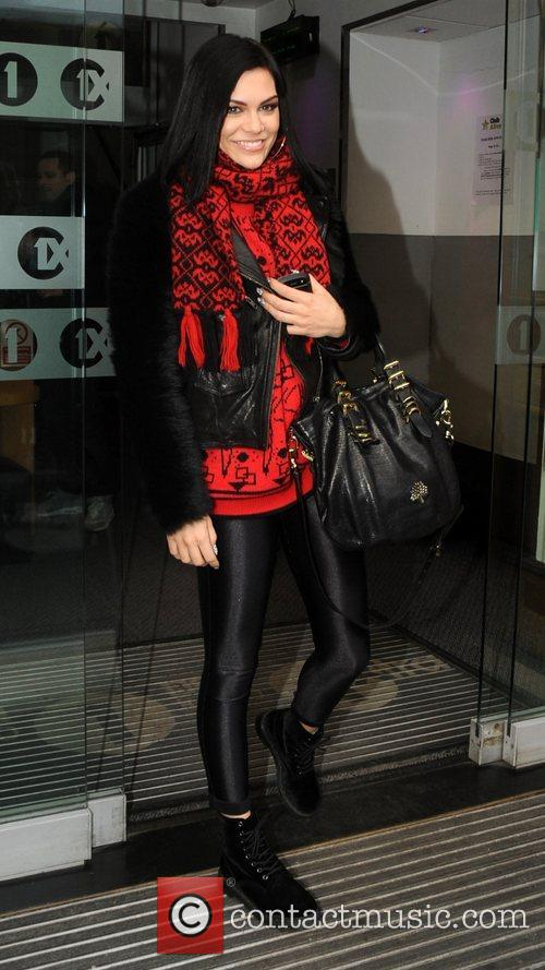 Jessie J arrives at the BBC Radio 1...