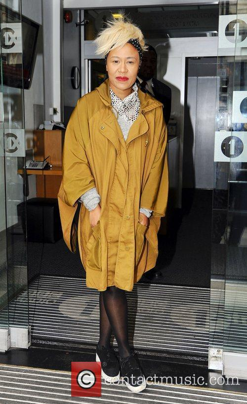 emeli sande arrives at the bbc radio 3974124