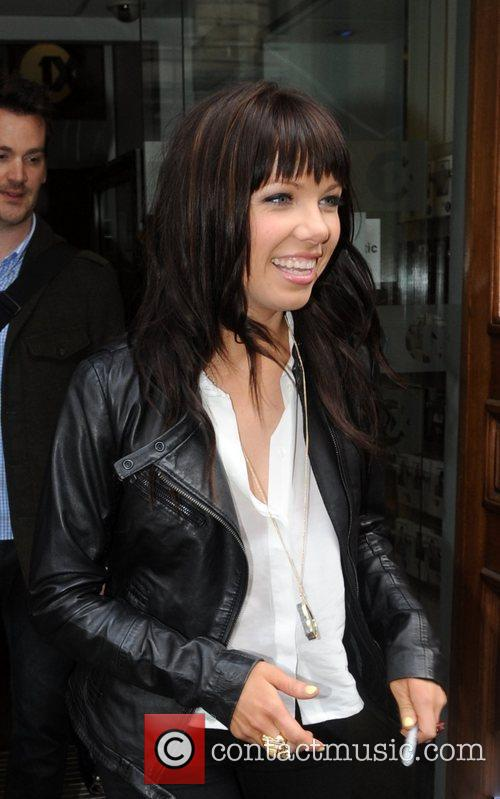 Carly Rae Jepsen outside the BBC Radio 1...