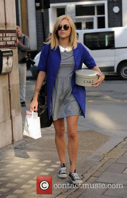 Fearne Cotton arriving at the Radio 1 studios,...