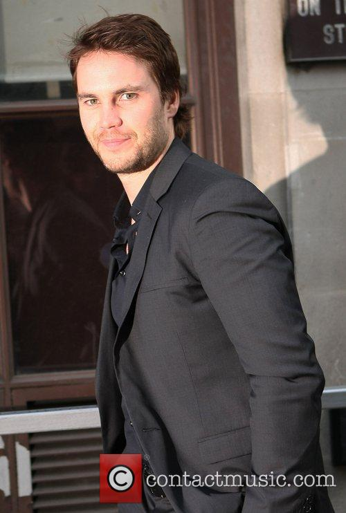 Taylor Kitsch outside the BBC Radio 1 studios...