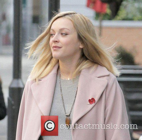 Fearne Cotton  arriving at BBC Radio 1...