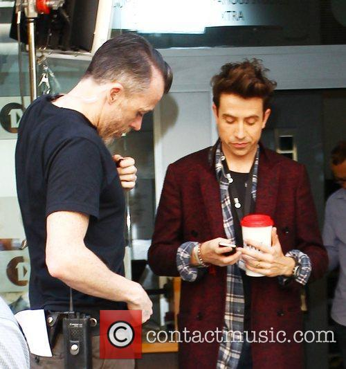 nick grimshaw filming a promo video outside 4056515