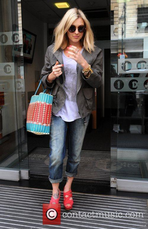 Fearne Cotton leaves the BBC Radio 1 studios...