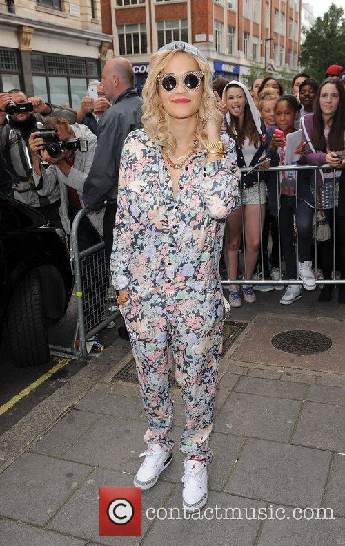 Rita Ora leaving the Radio 1 studios. London,...