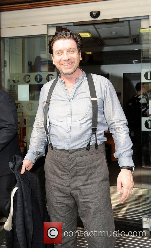 Nick Knowles Sport Relief celebrities outsie the BBC...
