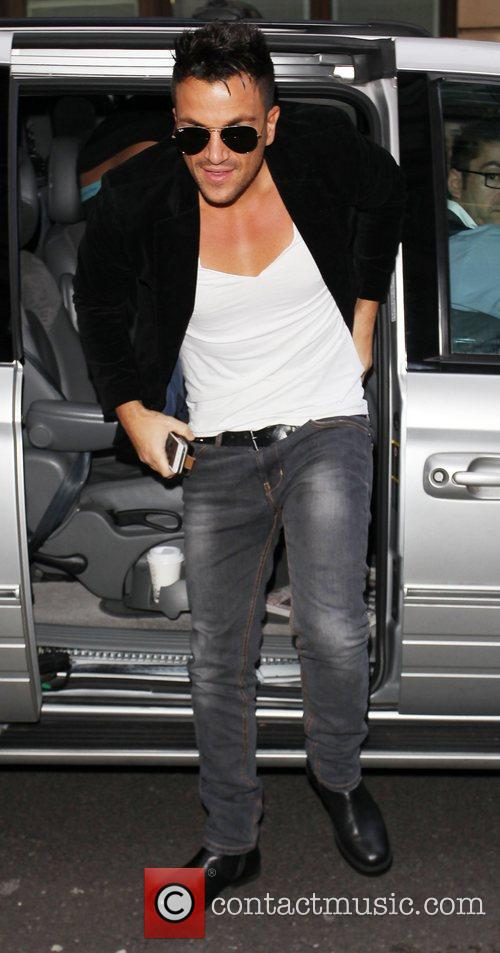 Peter Andre at the BBC Radio 1 studios...