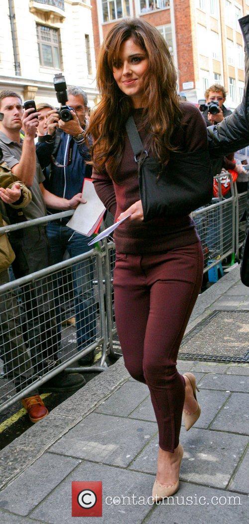 Cheryl Cole leaving the BBC Radio 1 studios...
