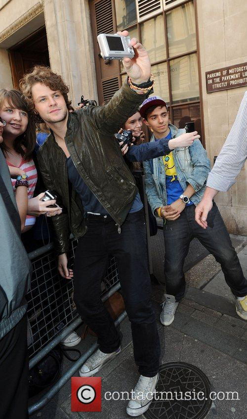 Jay McGuiness and Nathan Sykes of The Wanted...