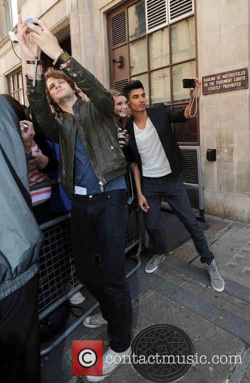 Jay McGuiness and Siva Kaneswaran of The Wanted...