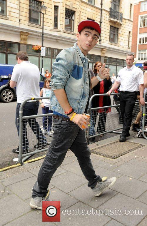 Nathan Sykes of The Wanted at the BBC...