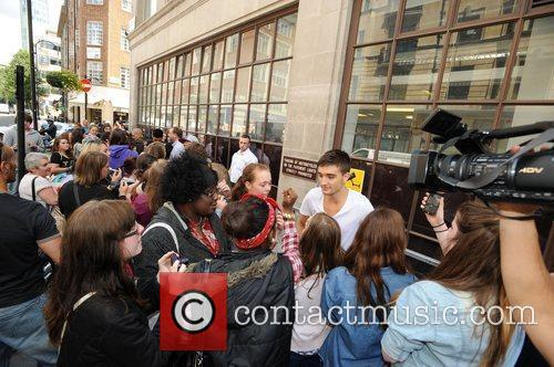 Tom Parker of The Wanted at the BBC...
