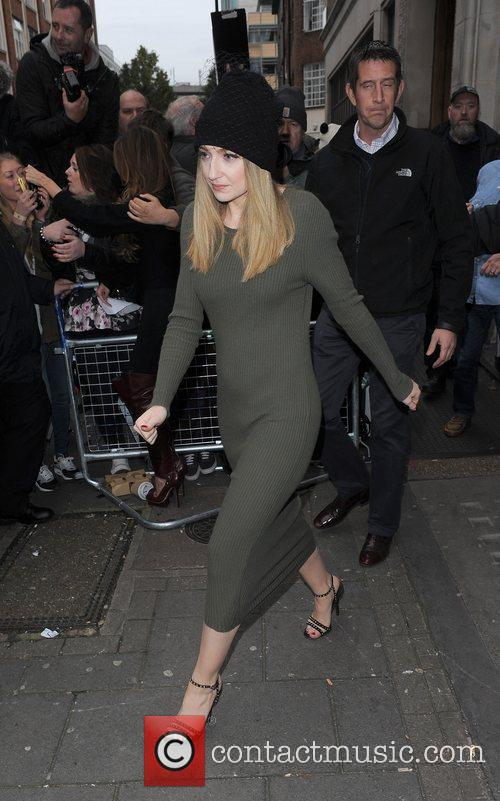 Nicola Roberts from Girls Aloud, leaving the BBC...