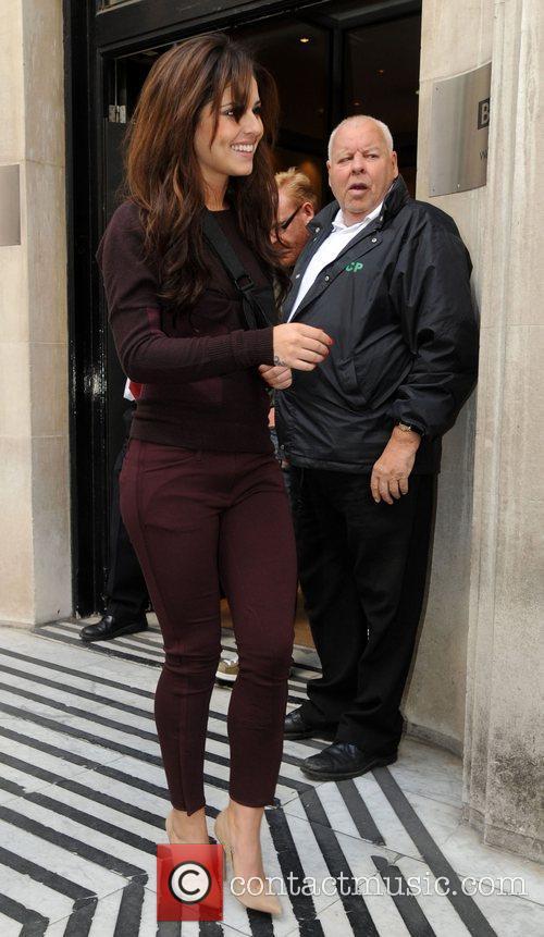 Cheryl Cole leaving the BBC Radio 2 studios...