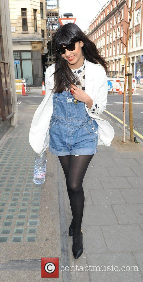 Jameela Jamil Sport Relief celebrities outside the BBC...