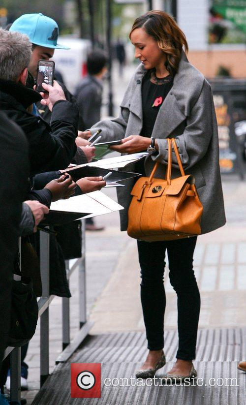 jessica ennis outside the bbc radio 1 4167958