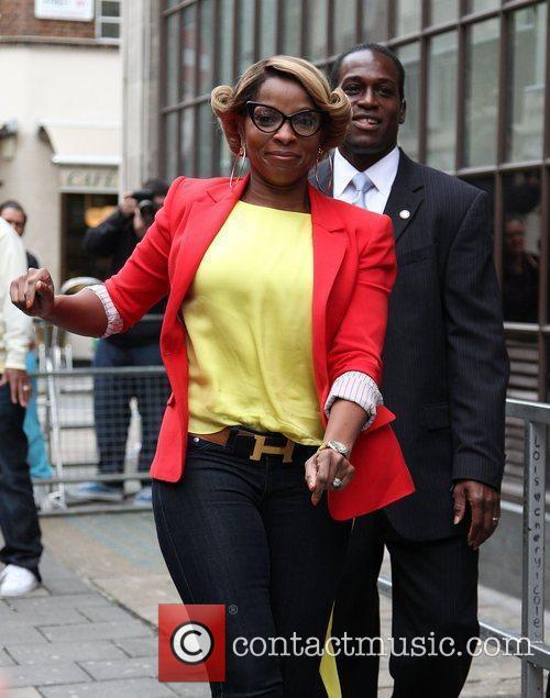 Mary J. Blige outside the BBC Radio 1...