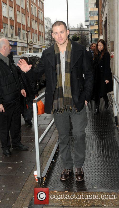 Channing Tatum outside the the BBC Radio 1...