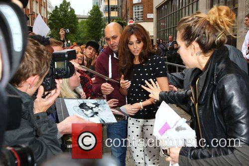 cheryl cole signs autographs for fans after 3940230