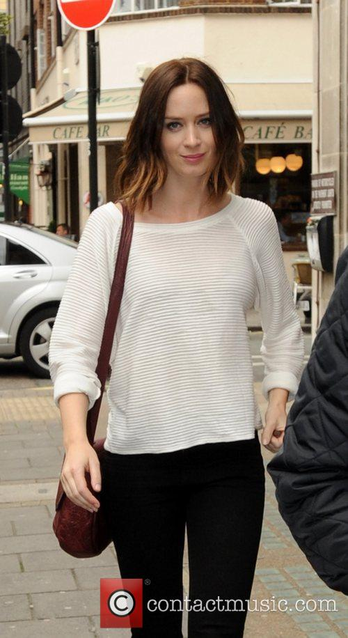 Emily Blunt arriving at the BBC Radio 1...