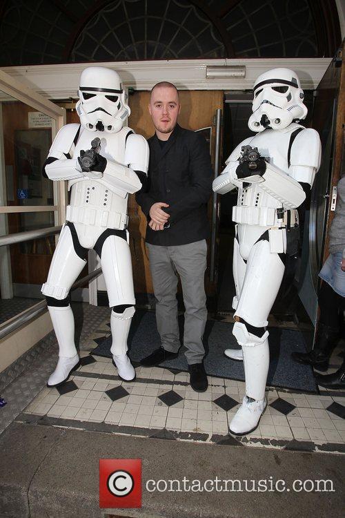 Celebrities at the BBC Radio 1 studios for...