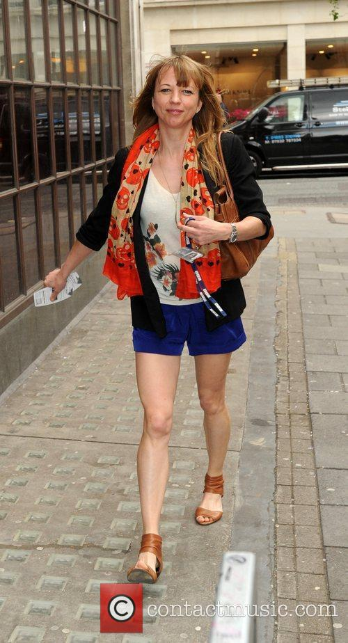 Sara Cox arriving at the BBC Radio 1...