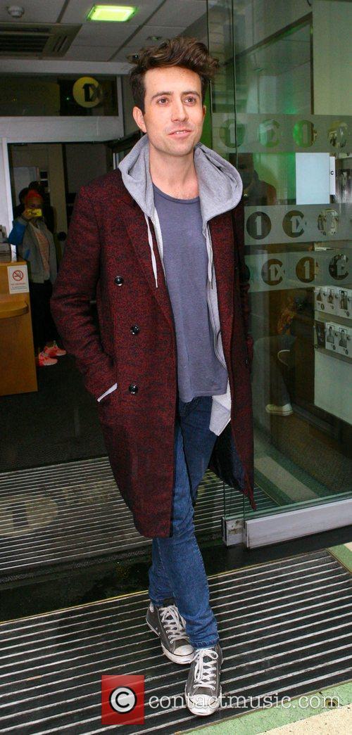 Nick Grimshaw  outside the BBC Radio 1...
