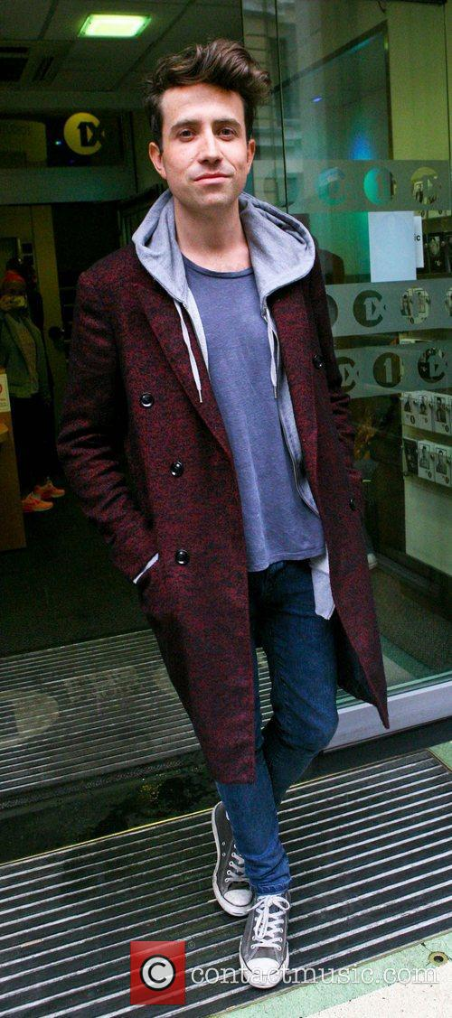 Outside the BBC Radio 1 studios, after his...