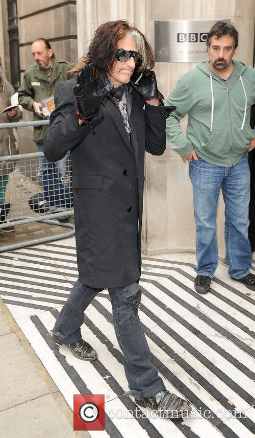 Joe Perry of Aerosmith outside the BBC Radio...