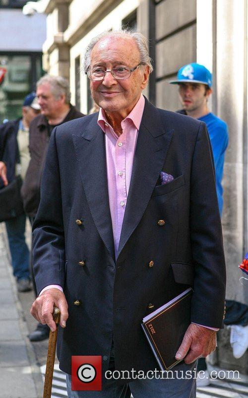 Broadcaster David Jacobs outside the BBC Radio 2...