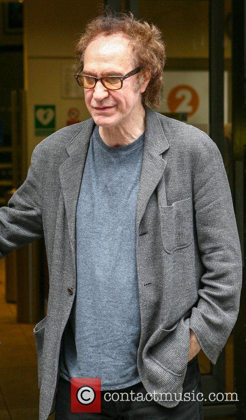 Ray Davies of The Kinks outside BBC Radio 2 studios