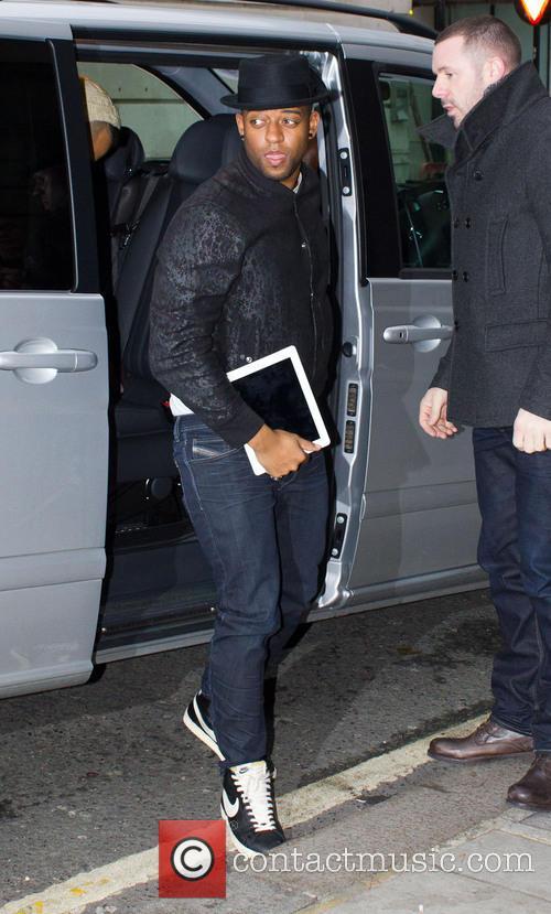 Oritse Williams JLS arriving at the BBC Radio...