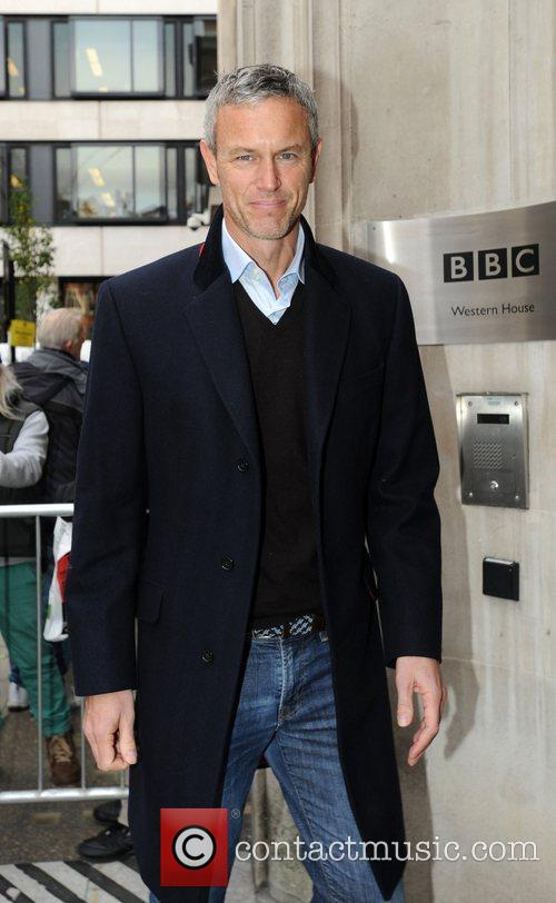 Mark Foster outside the BBC Radio 2 studios...