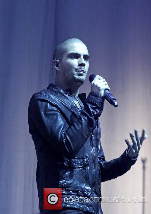 Max George of The Wanted performing live during...