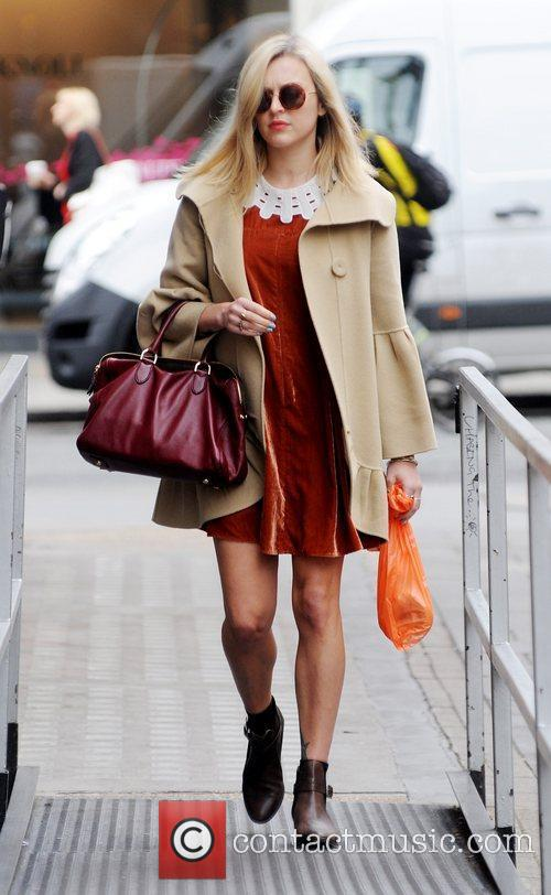 Fearne Cotton arriving at the BBC Radio 1...