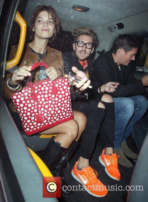 Pixie Geldof with Henry Holland leaving Radio 1...